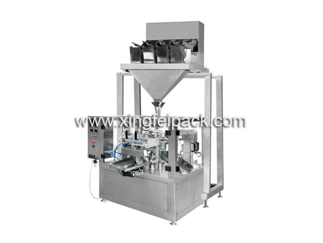 Automatic Rotary Pouch Filling Machine & Four Head/Six Head Weighing Machine
